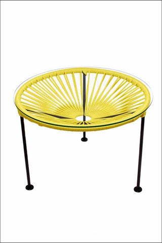 Innit Zica Table Yellow Weave On Black Frame