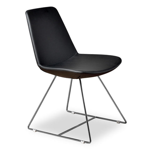 Aeon Karen Chair Black PU Chair AE1358-121-1