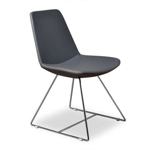 Aeon Karen Chair Grey PU Chair AE1358-213