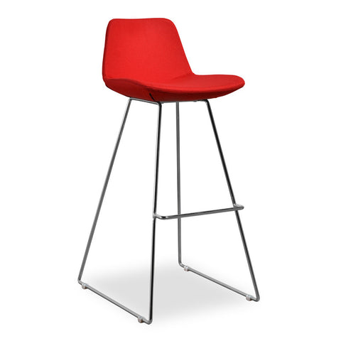 Aeon Alyssa-2 Barstool-Red Bar Stool AE2358-A24-1