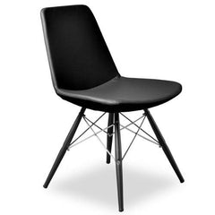 Aeon Paris Black PU Chair AE1358-121 (Set of 2) - YourBarStoolStore + Chairs, Tables and Outdoor
