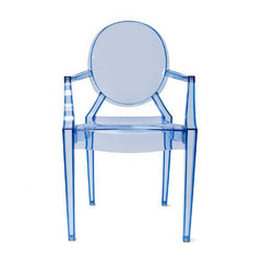 Aeon Specter Arm Chair AE8072 Clear Blue (Set of 2) - YourBarStoolStore + Chairs, Tables and Outdoor