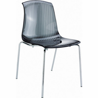 Compamia Allegra Indoor Chair Transparent Black ISP057-TBLA