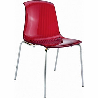 Compamia Allegra Indoor Chair Transparent Red ISP057-TRED