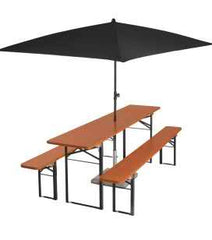 Beer Garden Set & Umbrella (7 piece set) - YourBarStoolStore + Chairs, Tables and Outdoor  - 1