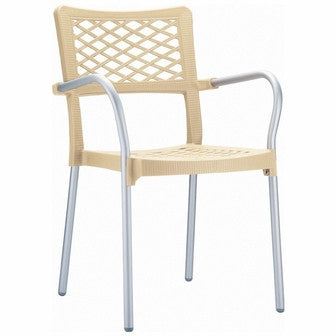 Compamia Bella Resin Dining Arm Chair Beige ISP040-BEI