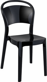 Compamia Bo Polycarbonate Dining Chair Glossy Black ISP005-GBLA