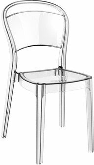 Compamia Bo Polycarbonate Dining Chair Transparent Clear ISP005-TCL