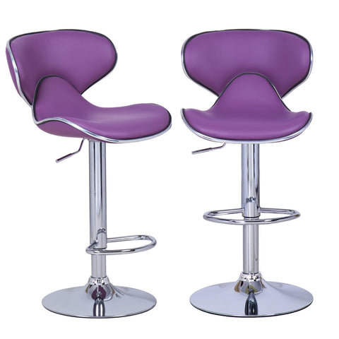 Bareneed Purple Modern Bar Stools (Set of two)