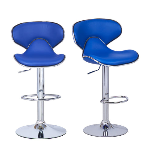 Bareneed Blue Modern Bar Stools (Set of two)