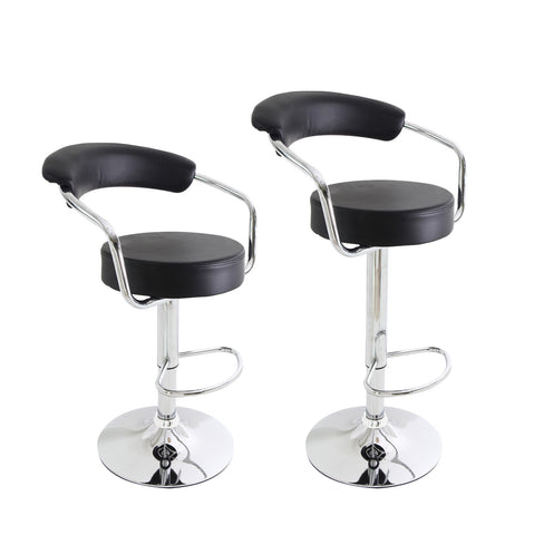 Unbyn Black Swivel Bar Stools (Set of two)