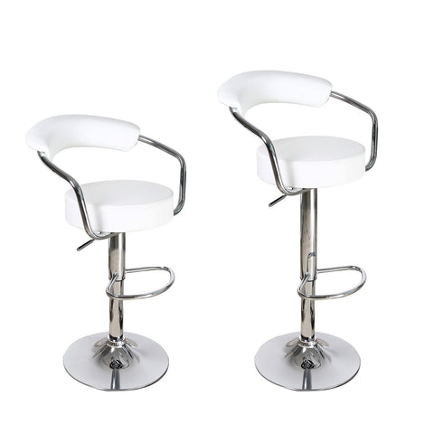 Unbyn White Swivel Bar Stools (Set of two)