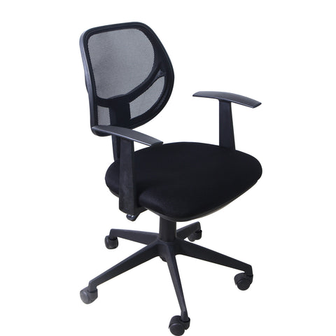 Black Deluxe Support High Back Office Chair