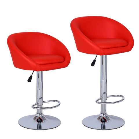 Red Bar Stools (Set of two)
