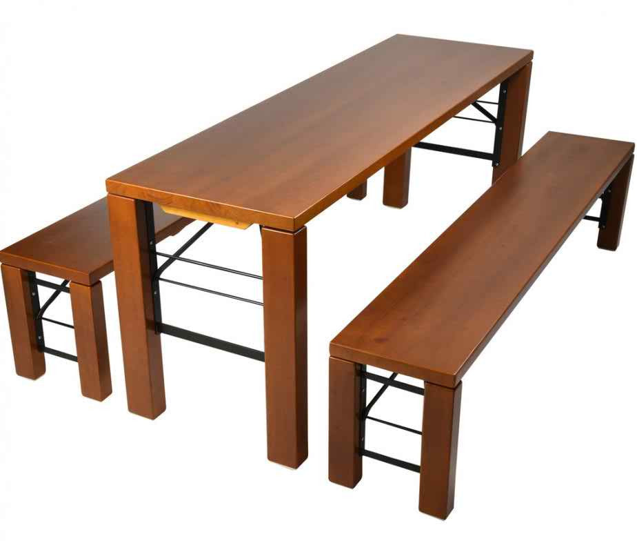 "Residential Beer Garden Table and Bench Set ""Milan"" (3 piece set)"