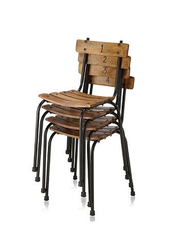 Set of 4 Public School Chairs