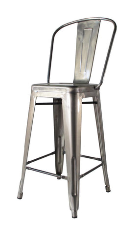 Bouchon Counter Stool with Back - Gloss