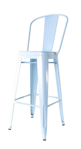Bouchon Bar Stool with Back - Blue