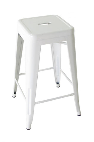 Bouchon Counter Stool, White
