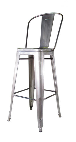Bouchon Bar Stool with Back - Gloss