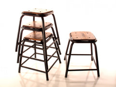 Set of 4 Public School Stools - YourBarStoolStore + Chairs, Tables and Outdoor