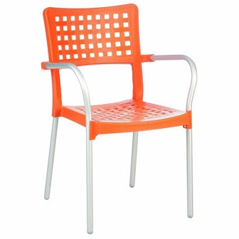 Compamia Gala Resin Dining Arm Chair Orange ISP041-ORA