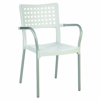 Compamia Gala Resin Dining Arm Chair White ISP041-WHI