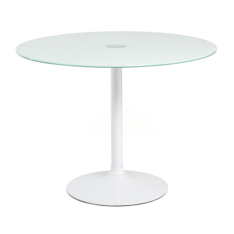 Aeon Elena White Glass Top Table Table M-80406-100P-P-White