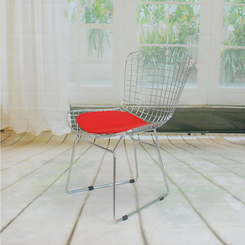 ModMade Chrome Wire Chair MM-8033-Red