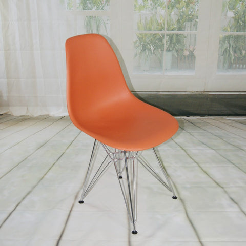 ModMade Paris Tower Side Chair Chrome Leg 2-Pack MM-PC-016-Orange