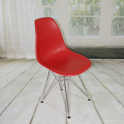 ModMade Paris Tower Side Chair Chrome Leg 2-Pack MM-PC-016-Red