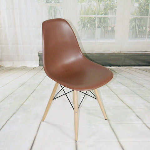 ModMade Paris Tower Side Chair Wood Leg 2-Pack MM-PC-016W-Chocolate
