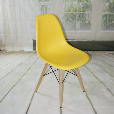 ModMade Paris Tower Side Chair Wood Leg 2-Pack MM-PC-016W-Yellow