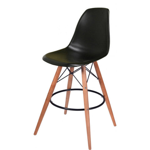 ModMade Paris Tower Barstool 2-Pack MM-PC-016WH-Black