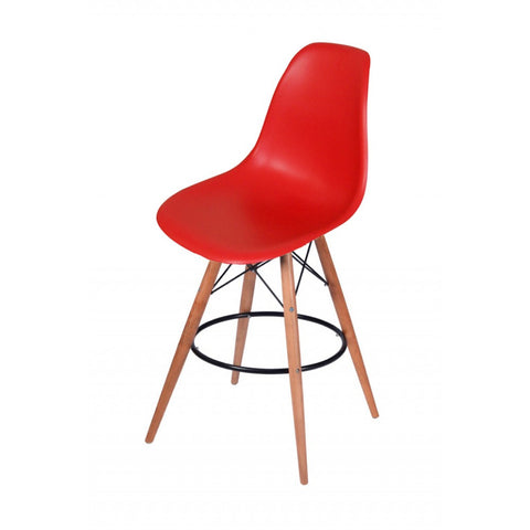 ModMade Paris Tower Barstool 2-Pack MM-PC-016WH-Red