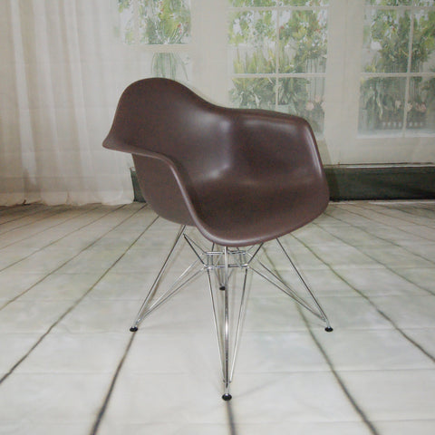 ModMade Paris Tower Arm Chair Chrome Leg 2-Pack MM-PC-018-Chocolate