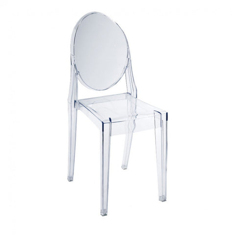 ModMade Louie Armless Chair MM-PC-089-Clear