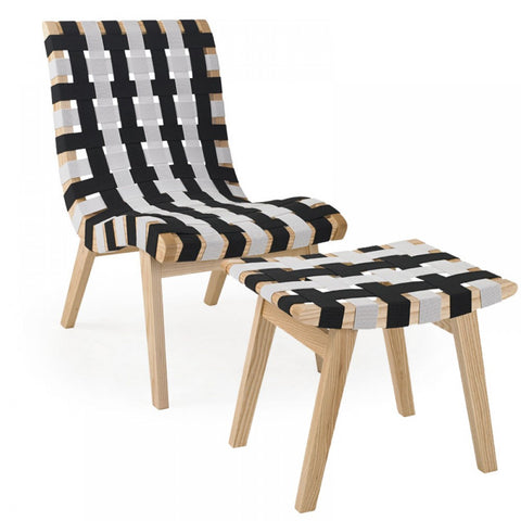 ModMade Woven Lounge Chair  MM-WS-067-Black+White