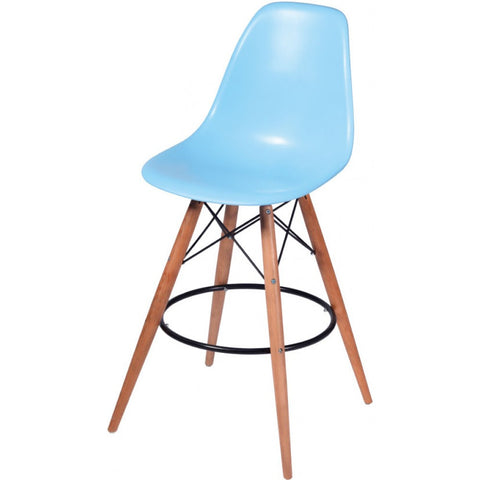 ModMade Paris Tower Barstool 2-Pack MM-PC-016WH-Blue