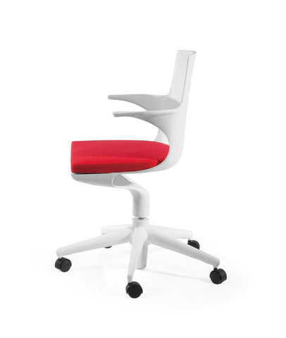 ModMade Jaden Chair MM-PC-077-White+Red