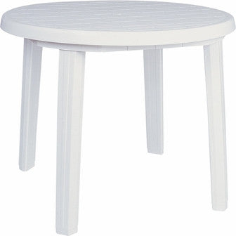 Compamia Ronda Resin Round Dining Table 35.5 inch White ISP125-WHI