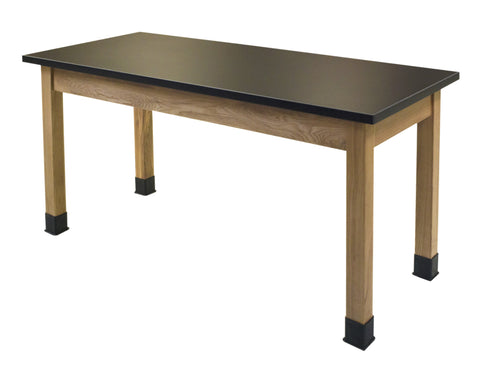 Science Lab Table - Chem-Res Top - Plain Front - 24 x 48 SLT2448