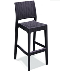 Jamaica Wickerlook Resin Bar Chair Brown 020825 - YourBarStoolStore + Chairs, Tables and Outdoor  - 1