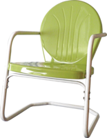 Retro Bellaire Heavy Duty Metal Lawn Chair - YourBarStoolStore + Chairs, Tables and Outdoor  - 1