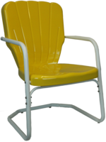 Retro Thunderbird Heavy Duty Metal Lawn Chair - YourBarStoolStore + Chairs, Tables and Outdoor  - 1