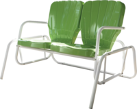 Retro Thunderbird Double Glider - YourBarStoolStore + Chairs, Tables and Outdoor  - 1