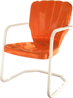 Retro Thunderbird Metal Lawn Chair - YourBarStoolStore + Chairs, Tables and Outdoor  - 1