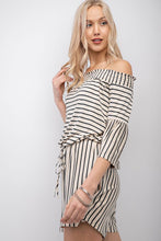 Load image into Gallery viewer, Gwen Off Shoulder Romper