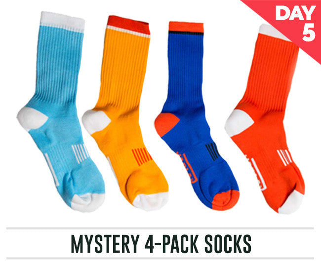 Day Five - Mystery 4-Pack Socks $14.99