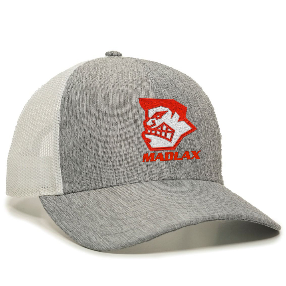 MadGear Madface Khaki Grey Mesh Back Hat